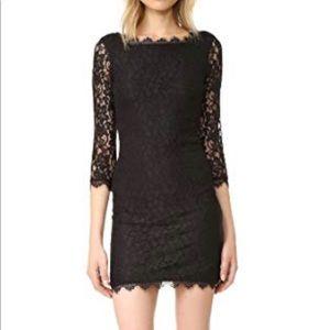 DVF Black Lace Zarita Dress